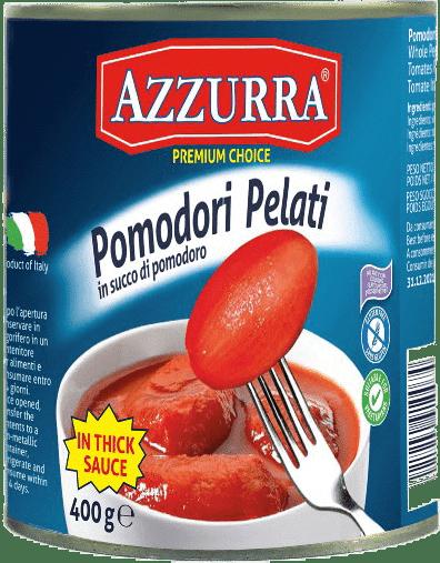 Peeled Tomatoes 400g Azzurra